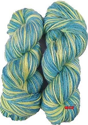 Oswal Knitting Yarn Wool, Multi Green 200 gm Woolen Crochet Yarn Thread. Best Used with Knitting Needles, Crochet Needles. Wool Yarn for Knitting. Best Woolen Thread.