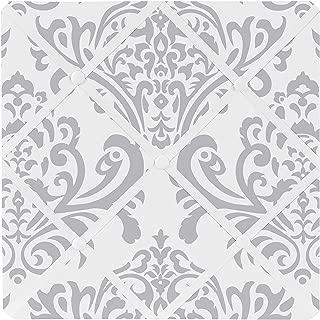 Sweet Jojo Designs Gray and White Damask Fabric Memory/Memo Photo Bulletin Board