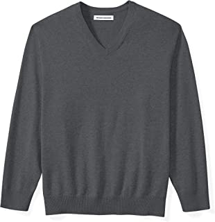 Amazon Essentials Men's Big & Tall V-Neck Sweater fit by DXL