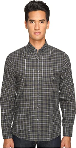 Italian Heather Check Button-Up