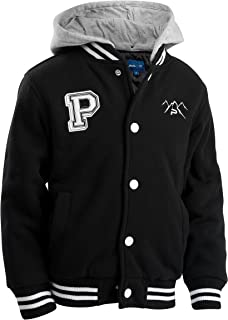 Toddlers' Fleece Varsity Baseball Jacket with Removable Hood