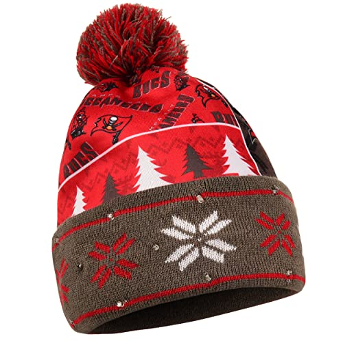 Tampa Bay Buccaneers Exclusive Busy Block Printed Light Up Beanie 5d10fe6954a