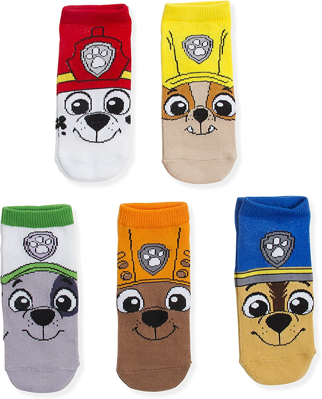 Nick Jr, Paw Patrol Big Face Boys 5 Pk (5 Pair) Shorty Socks