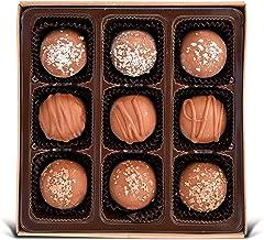 Vegan Chocolate Truffles - Gluten free, Organic Ingredients, Best Vegan Gift, Fair trade, Gourmet Assortment 6.25oz Box