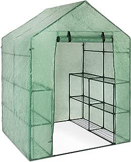 Best Choice Products 3-Tier 12-Shelf Portable 57.5x56x76-inch Outdoor Mini Garden Walk-in Greenhouse, Green