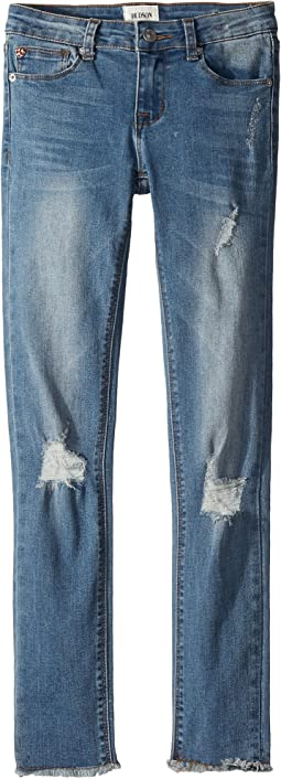 Ankle Skinny with Frayed Hem in Northern Light (Big Kids)