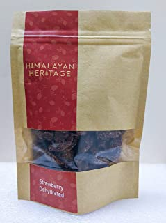 HIMALAYAN HERITAGE STRAWBERRY DEHYDRATED - 100 gms. | Vaccum Dehydrated Strawberries.| No preservatives.|