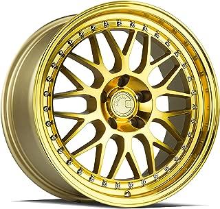AodHan AH02 Wheel - Gold Machined Face: 18x8.5 Wheel Size; 5x114.3 Lug Pattern; 73.1mm Hug Bore; 35mm Off Set.