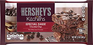 HERSHEY'S Kitchens SPECIAL DARK chocolate Mildly Sweet Baking Pieces, baking supplies, 12 oz. (12 pack)