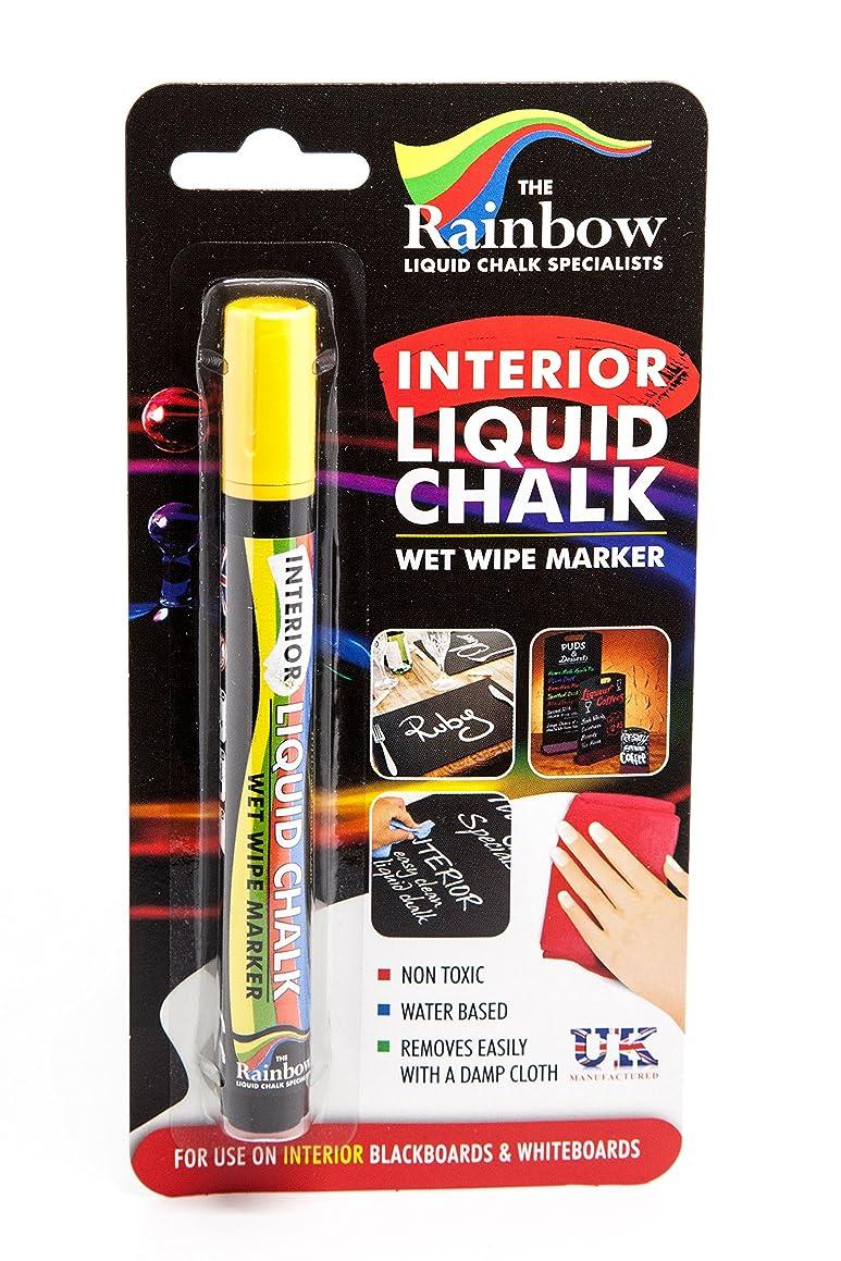 Interior Liquid Chalk Marker Pen 5Mm Bullet 5Mm Small Yellow