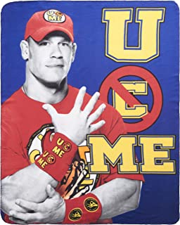 Silver Buffalo WE0721 WWE John Cena Fleece Throw Blanket, 50 x 60 inches