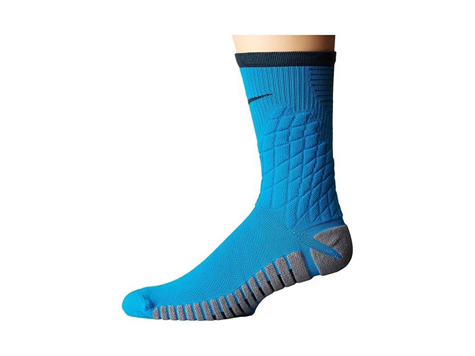 Nike Strike Hypervenom Crew Football Socks (Light Blue Lacquer/Cool Grey/Black) Crew Cut Socks Shoes