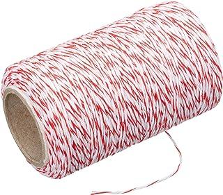 Kitchen Craft KCTWINE Bratenschnur, 60 m 197 Fuß -Rot/Weiß, Stoff, 4.3 x 9 x 21 cm, 6-Einheiten