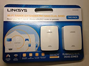 Linksys Wi-Fi Range Extender Pro N600 Dual Band RE4000W White 2-Pac