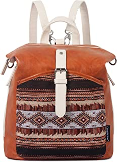 ArcEnCiel PU Leather Backpack for Girls Schoolbag Casual Daypack