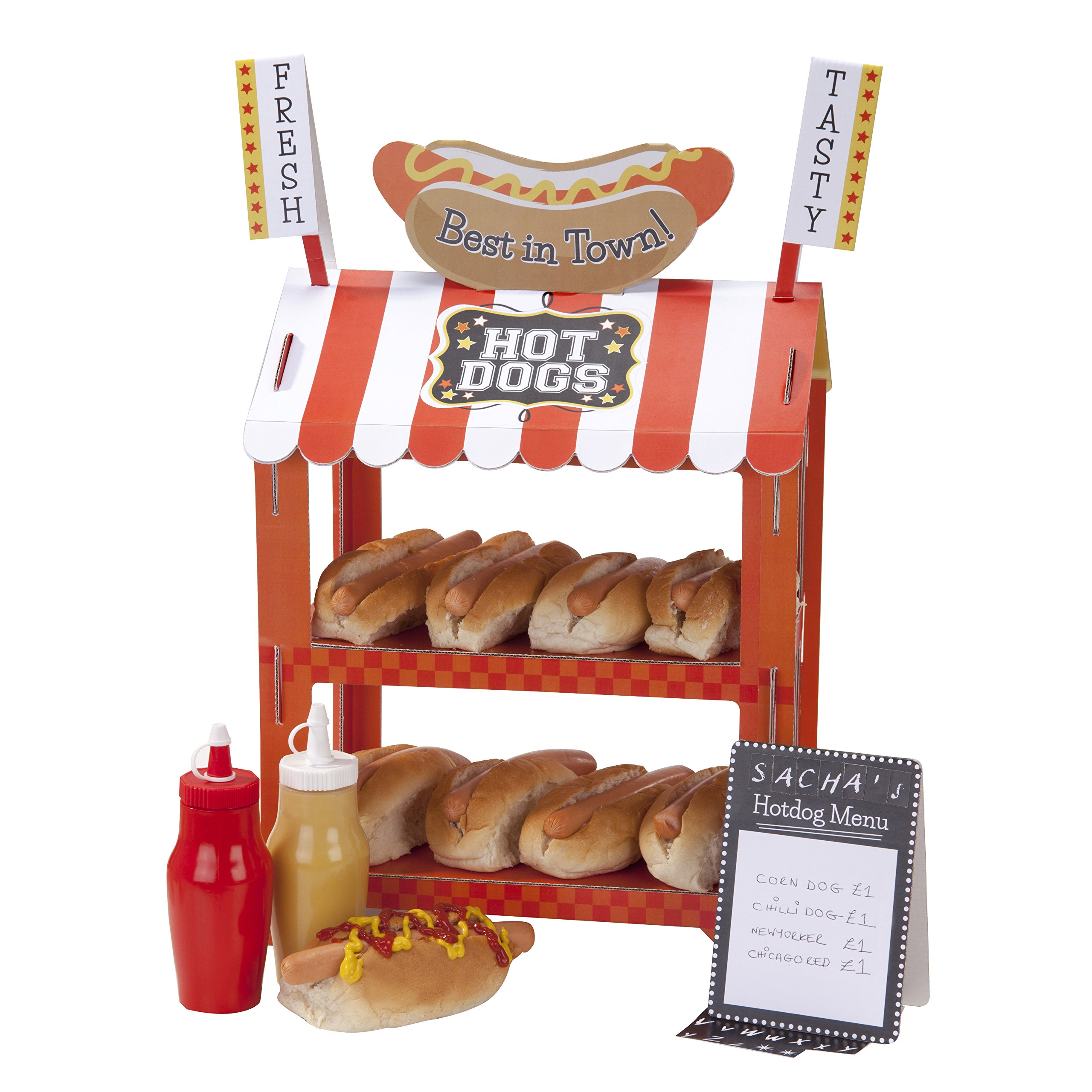 Pack of 8 Unique Party 90688 Paper Hot Dog Trays