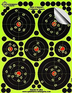 Splatterburst Targets - 4 inch Adhesive Stick & Splatter Reactive Shooting Targets - Gun - Rifle - Pistol - Airsoft - BB Gun - Pellet Gun - Air Rifle