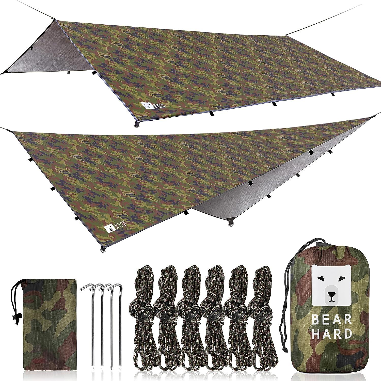 Bearhard Waterproof Camping Tarp Award Lightweight Rain Hammock Max 68% OFF Fly
