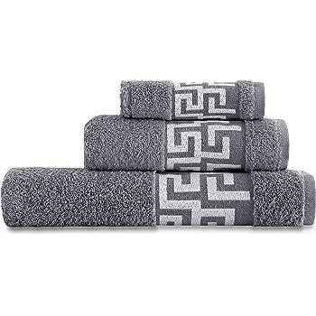 y toalla de manos 100 /% de algod/ón natural 50 x 90 cm Juego de toallas absorbentes toalla de ba/ño 70 x 140 cm 500 g//m/² hilado en anillos calidad de hotel