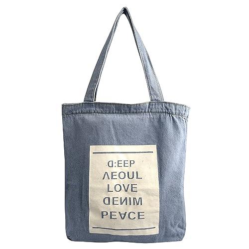 Peach Couture Denim Reusable Cotton Canvas Zipper Tote Laptop Beach  Handbags Womens Mens Shoulder Bags 513722b0f6650