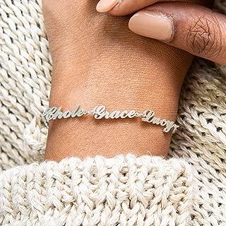 Custom Children Names Bracelet for Mom in Sterling Silver, Gold & Rose Gold by Caitlyn Minimalist Baby Shower Gift