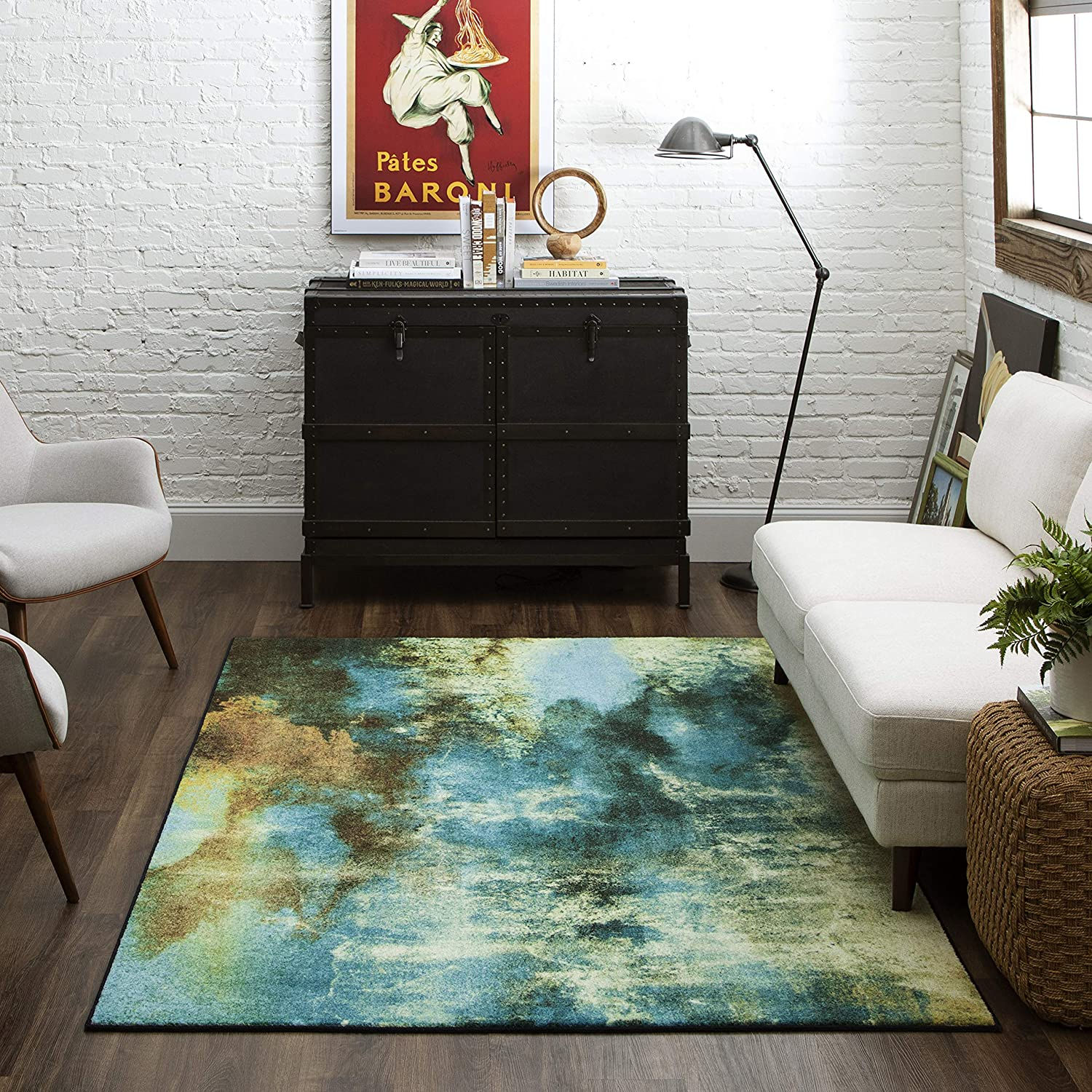 Mohawk Glaicer Area Rug, 20'x20', Water