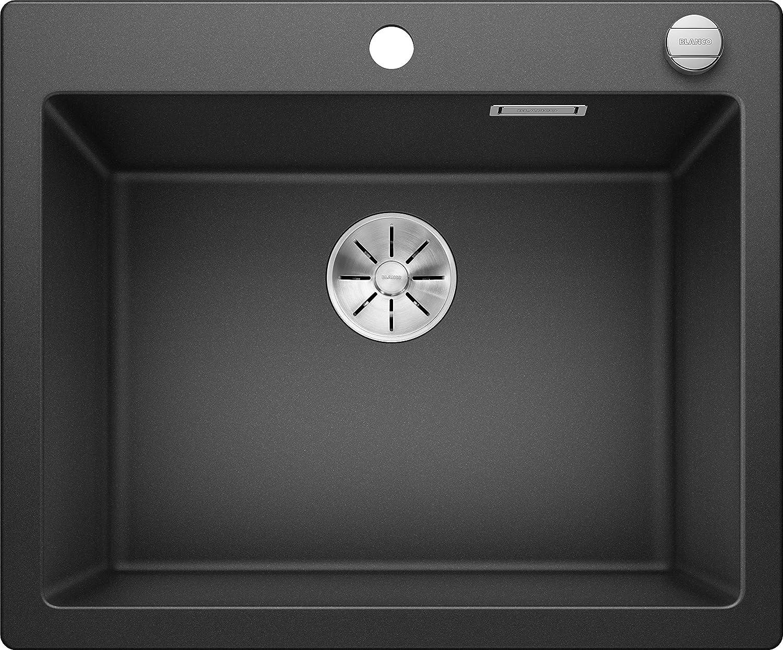 Blanco 523686 Pleon 6 Silgranit PuraDur - Desagüe con mando a distancia, color gris