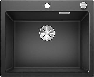 BLANCO Pleon 6, großzügiges Spülbecken, Küchenspüle aus Silgranit PuraDur, Anthrazit-schwarz / mit InFino-Ablaufsystem, inklusive Ablauffernbedienung 523686
