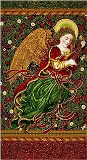 Robert Kaufman 0437709 Kaufman Holiday Flourish Metallics Angel 24 in. Panel Black