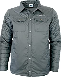 Columbia Mens Mt. MicKinley Shirt Water Resistant Light Insulated Jacket (XXL, Grey)
