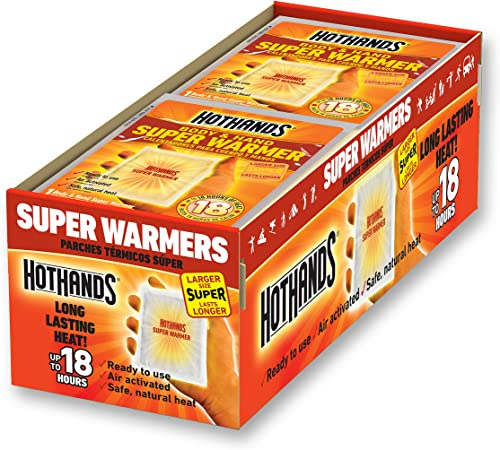 HotHands Body & Hand Super Warmers - Long Lasting Safe Natural Odorless Air Activated Warmers - Up to 18 Hours of Hea...
