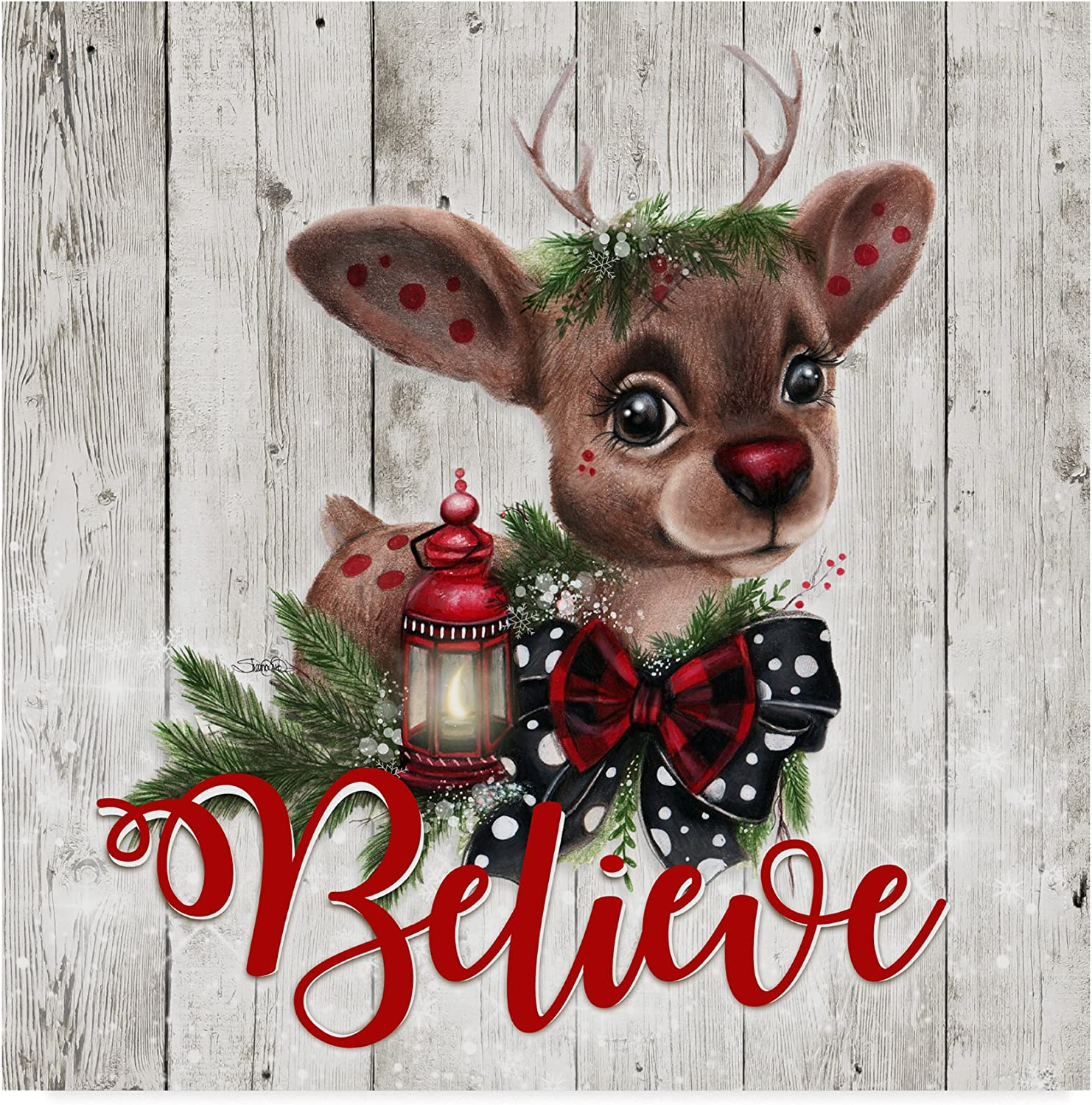 Rudolph by Sheena Pike Art And Illustration, 14x14-Inch