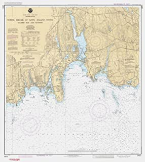 Map - North Shore Of Long Island Sound - Niantic Bay And Vicinity, 1991 Nautical NOAA Chart - Connecticut (CT) - Vintage Wall Art - 44in x 53in