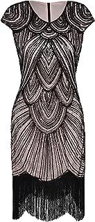 Women's 1920s Flapper Dress Crystal Sequin Embellished Fringed Gatsby Dress