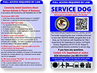 Just 4 Paws Service Dog ID Information Card   Includes Registration to U S Service Dogs Registry