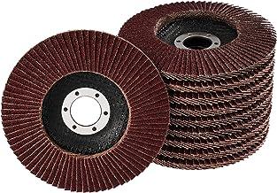 20 stuks waaierschijven – Ø 115 mm x 22,23 mm – mix pakket – gemengde korrel elk 5 x korrel 40/60/80/120 – bruin | standaa...