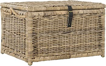 happimess Caden 30 Wicker Storage Trunk, Natural