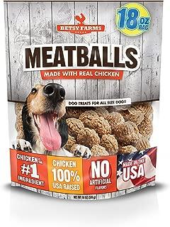 Betsy Farms Chicken Meatball Dog Jerky Treats, 18 Oz Chicken Jerky Treats For Dogs