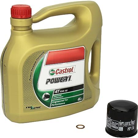 Castrol Power1 10w 40 Ölwechsel Set Suzuki Rm Z 250 Bj 10 13 Motoröl Hiflo Ölfilter Und Dichtring Auto