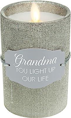 Pavilion Gift Company Pavilion - Grandma - Realistic LED Flame Candle, Silver
