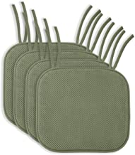 thin chair pads with ties