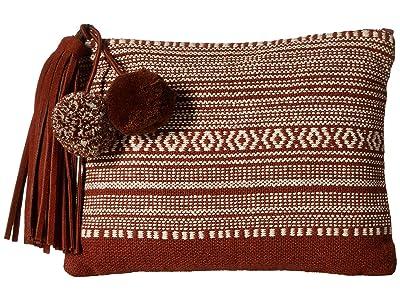 Lucky Brand Cora Pouch (Cognac/Ivory) Handbags