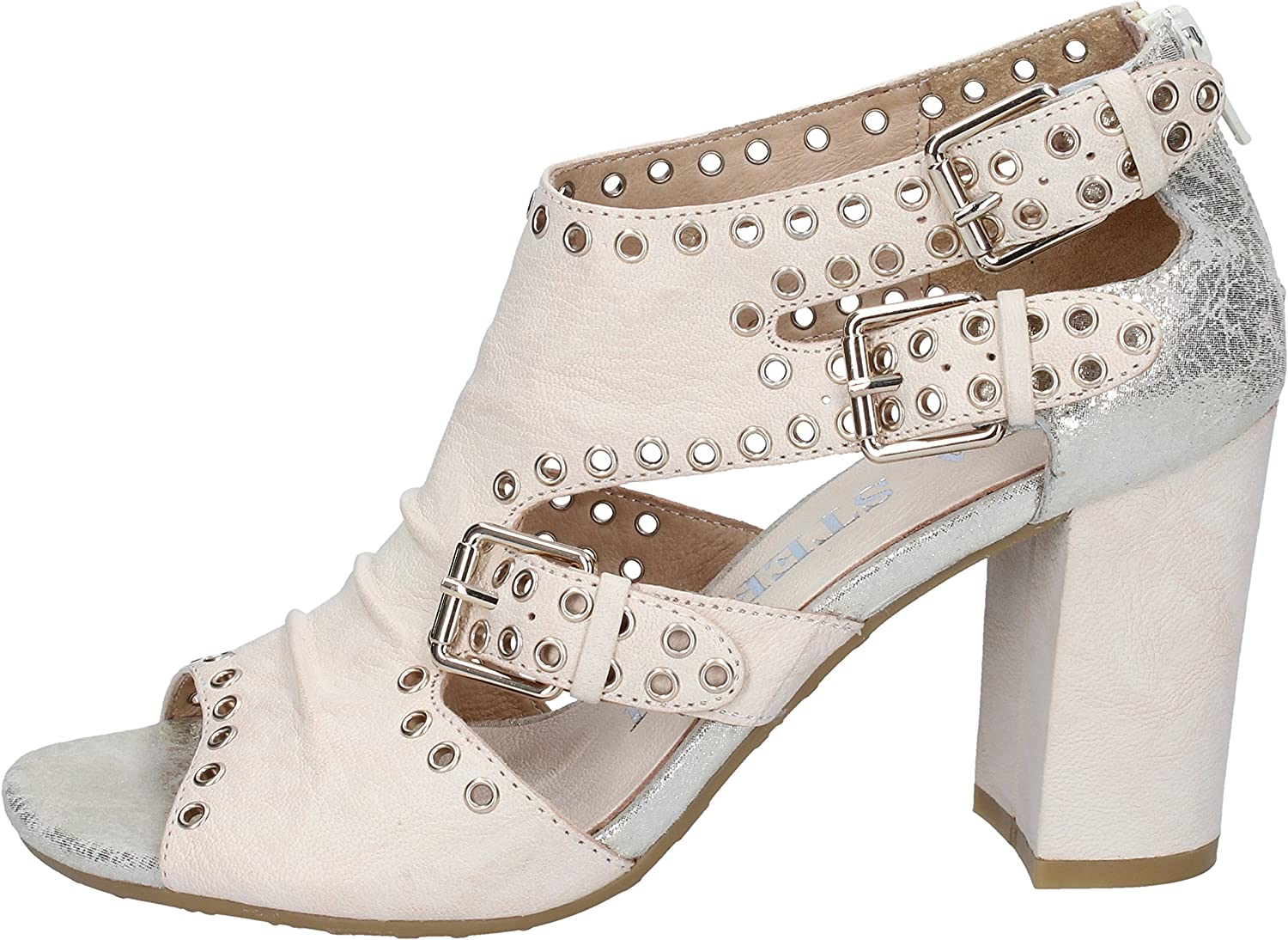LUCA STEFANI Sandals Womens Leather Beige