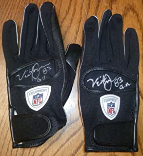 Vincent Jackson GAME USED Signed Chargers Gloves COA Buccaneers Auto'd 2 - PSA/DNA Certified - NFL Autographed Game Used Gloves