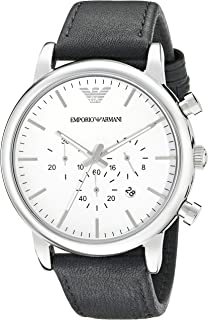 Emporio Armani Men's AR1807 Dress Black Leather Watch