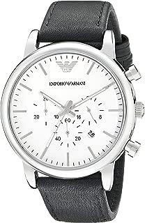 Emporio Armani Men's AR1807 Dress Black Leather Watch