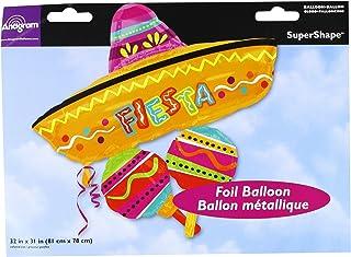 """Anagram 26619 Fiesta Fun Cluster Foil Balloon, 32"""", Multicolored"""