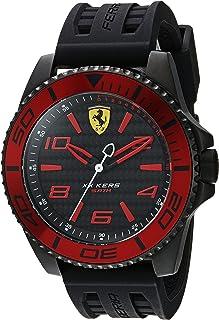 Hombre Ferrari XX Kers cuarzo, de acero inoxidable y silicona reloj Casual, color: negro (modelo: 0830306)