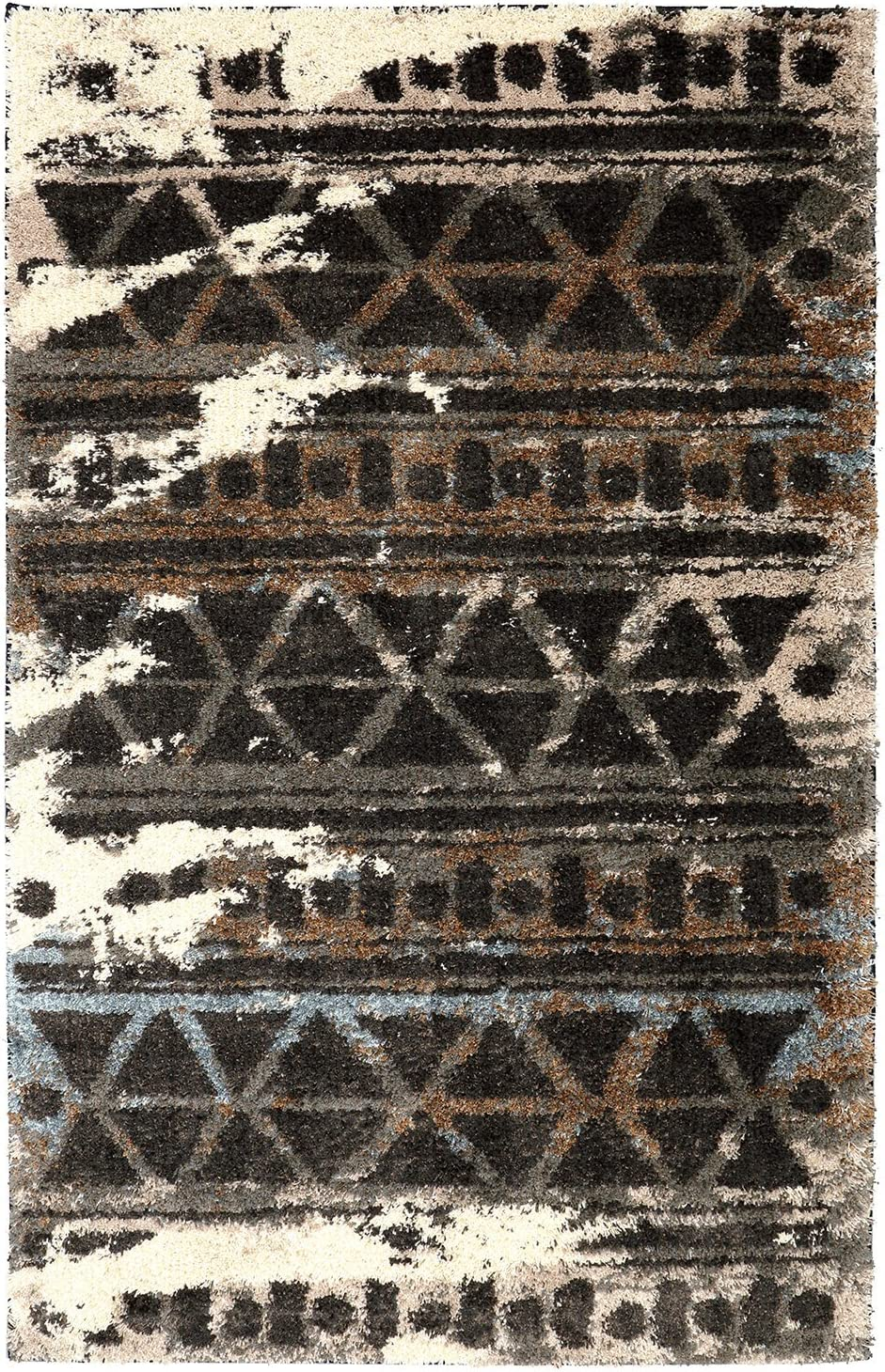 Mohawk Home Huxley Urban Grid Distressed Aztec Shag Style Year-end gift Woven Manufacturer regenerated product