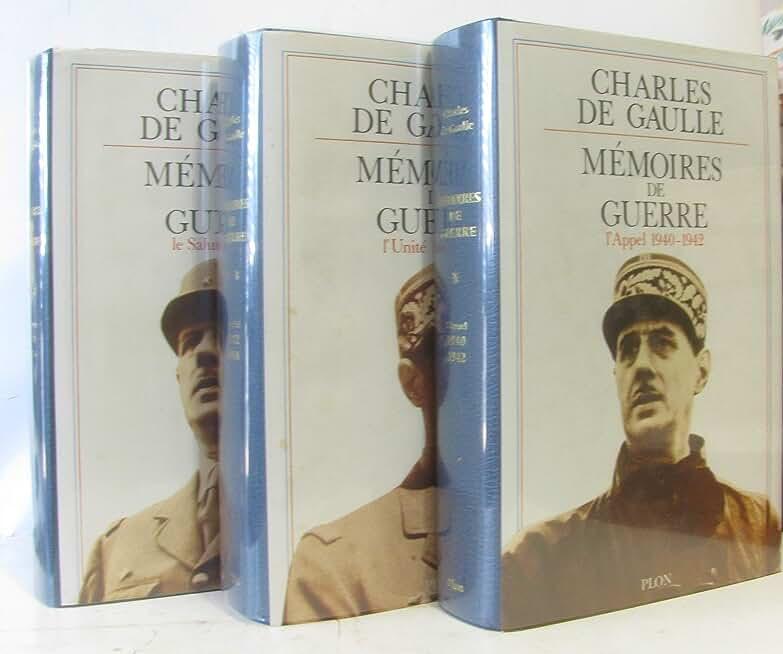 MEMOIRES DE GUERRE - 3 VOLUMES - TOME I+II+III - L'APPEL 1940-1942 /L'UNITE 1942-1944 / LE SALUT 1944-1946